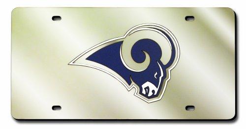 Metal Louis Rams - NFL St. Louis Rams Laser Inlaid Metal License Plate Tag