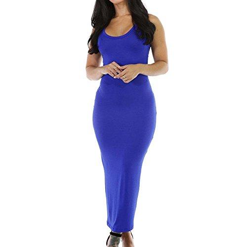 Vestido de falda Stretchy Fit Long Sundress Blue