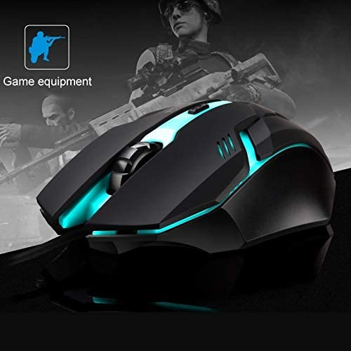Length 1.3m K2 USB LED Backlight 1600DPI Three-Speed Adjustable Wired Optical Gaming Mouse