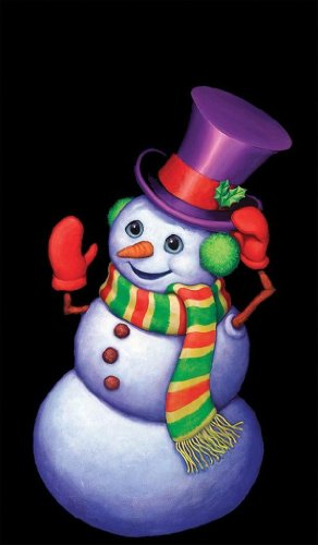WOWindow Posters Snappy the Snowman Christmas Window Decoration 34.5