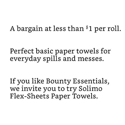 Solimo Basic Flex-Sheets Paper Towels, 24 Value Rolls, White, 102 Sheets per Roll
