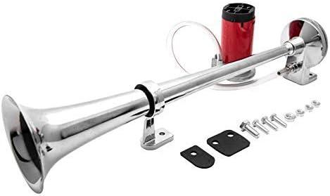 Maso Lufthorn Drucklufthorn Air Horn Kit Einzel Trompete Kx 4014 Super Laut Kompressor Auto Horn Passt Van Lkw Zug Lastwagen Boot Auto