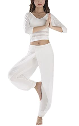 Conjunto de Ropa de Yoga, Malla Modal de algodón para Mujer ...
