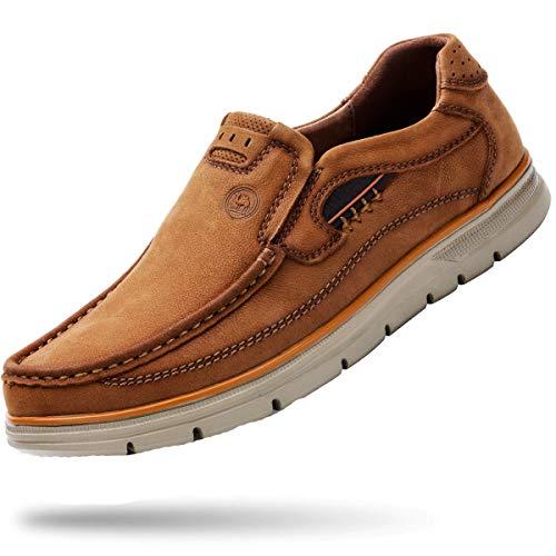 - CAMEL CROWN Loafer Slip-on Shoes Slip Resistant Genuine Leather Fashion Dress Shoes