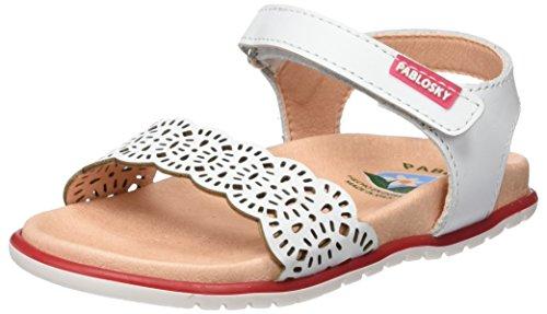 Pablosky Mädchen 443500 Sandalen Weiß
