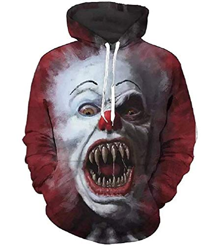 7eaven Shop Pennywise Scary Meme Halloween Sweatshirts Hipster Hoodie Tshirt Clothes -
