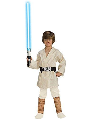Jedi Costume Toddler (Star Wars Child's Deluxe Luke Skywalker Costume, Small by Rubie's)