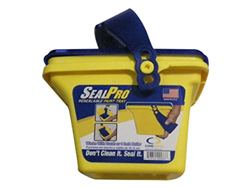 SealPro Core-Gear CG004-01 Resealable Hand Held Paint Tray with Lid