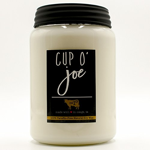 Milkhouse Candle Farmhouse Collection, 26 Ounce Canning Jar, CUP O' JOE