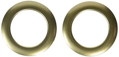 Gold Grommets (Dritz 1-9/16-Inch Inner Diameter Curtain Grommets, 8-Pack, Antique)