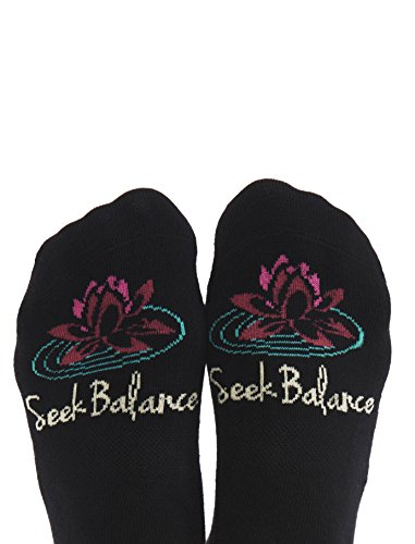 SEEK BALANCE Non Slip Grip Socks, Women's Sizes 6-10, Ideal for Pilates Yoga & Mindful Practice
