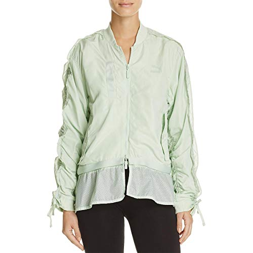 PUMA Womens Fall Lightweight Bomber Jacket Green M