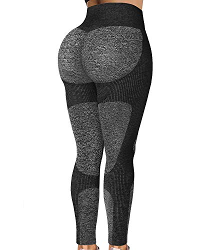 Jenbou Seamless Leggings for Women Workout Yoga Pants Butt Lifting High Waisted Tummy Control Compression Tights…