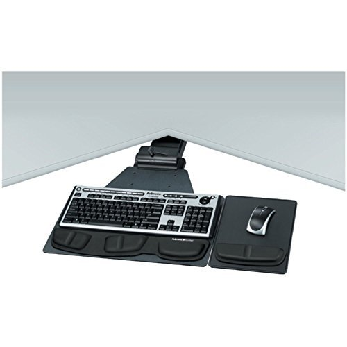 Fellowes 8035901 Professional Series Corner Executive Keyboard Tray W/Wrist Pads Home & Garden Improvement