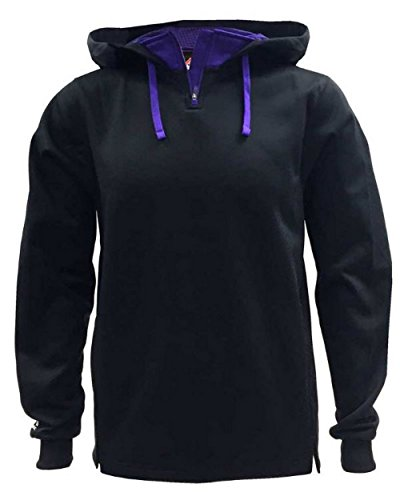 Majestic Athletic Majestic Mens Therma Base Hooded Fleece Pullovers Black... (Therma Fleece Athletic Majestic Base)