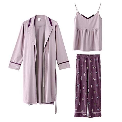 Lingerie Viola Summer Nightwear Donna In Tagliati Sleepwear Fashion HAOLIEQUAN Pajamas Pantaloni Pieces Three Tute Seta Slip Maniche Senza Set Per xgqC1H