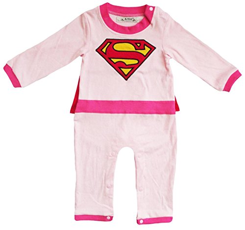 V28® Superhero's Unisex-baby All in 1 Fancy Romper Suits with Cape (12-18 month, (Baby Super Hero)
