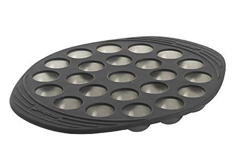 Mastrad F43614 - Molde para dulces (23 medias esferas pequeñas, silicona premium), color gris: Amazon.es: Hogar