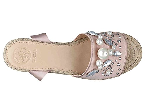 G by GUESS Womens Razzle Satin Open Toe Casual Platform Sandals Light Pink Satin t39YsIWnl
