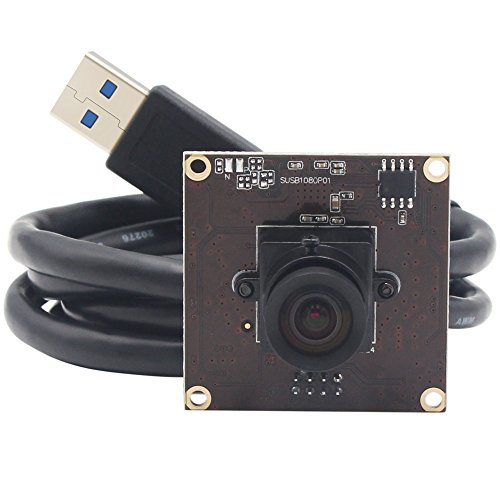 ELP USB3.0 Camera Module 1080P IMX291 50FPS With 100 Degree No Distortion Wide Angle Lens