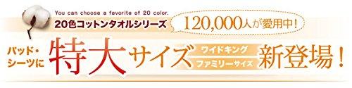 20色から選べる!お買い得同色2枚セット!ザブザブ洗えて気持ちいい!コットンタオルの敷パッド キング B076CJSTDP