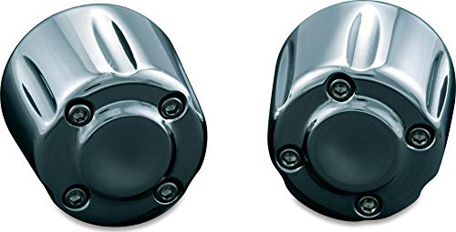 Kuryakyn 6238 Motorcycle Handlebar Accessory: Hand Grip End Cap Weight, Chrome, 1 Pair (2003 Harley Sportster 1200 Anniversary Edition For Sale)