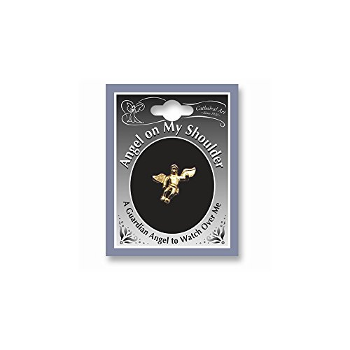 ICE CARATS Gold Tone Angel On My Shoulder Lapel Pin Religious Fashion Jewelry Gifts for Women for Her
