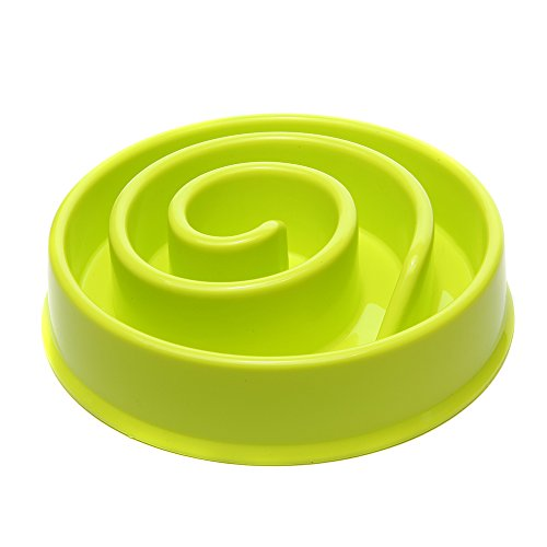 Fun Snail Shaped Pet Dog Bowl Slow Feeder Interactive Bloat Stop, Over Eating,Lightweight Durable, Easy (Single Bowl Mount)