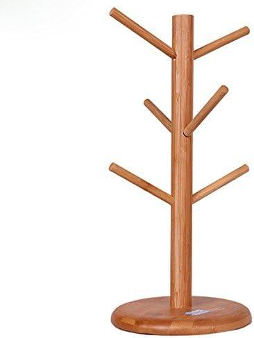 per la casa la cucina con 6 ganci Baifeng Portabicchieri in legno a forma di albero