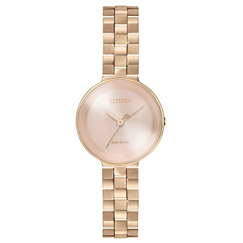 Citizen Women's 'Eco-Drive' Quartz Stainless Steel Casual Watch, Color:Rose Gold-Toned (Model: EW5503-83X)