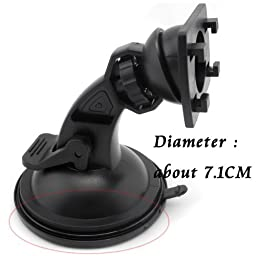 iSaddle Adapter Plate Circular Adhesive Dash / Console Disc with 3M Adhesive Suction Cup Base For Car Dashboards Garmin TomTom GPS Smartphone Dashboard Disc(2Pcs,Diameter About 71mm)