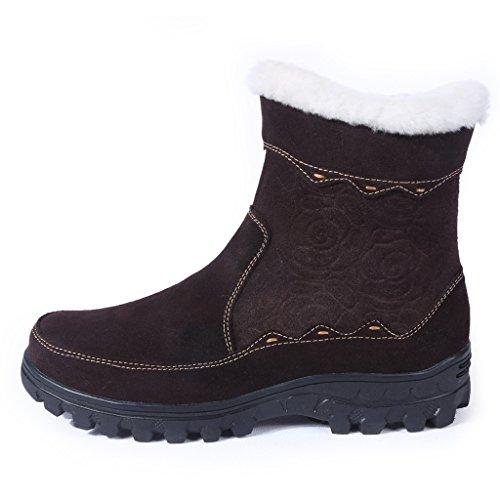 724dc7d6d4c Bull Titan Women s Fully Fur Lined Platform Zippered Winter Snow Boots  85%OFF