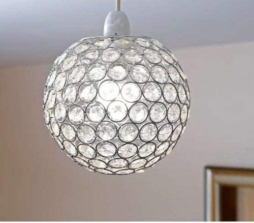 Crystal Effect Round Pendant | Lighting