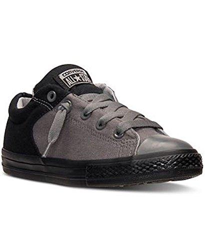 Converse Jungen Boy Sneaker Gr. 38.5 (US6) Chuck Taylor All Star Low Grau Schwarz *** CTAS Nylon Mono Slip Black/Thunder/Dolphin *** 650118F Canvas