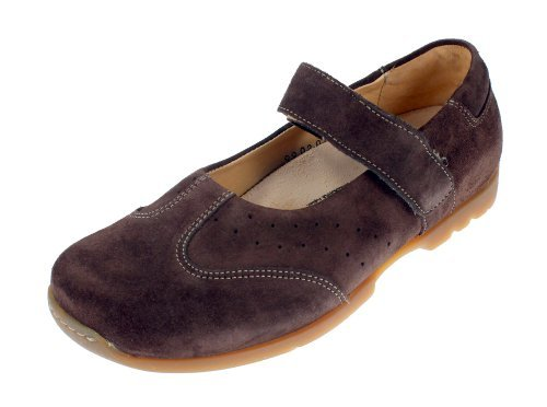 Footprints by Birkenstock Pittsburg Womens Leather Mary Jane Shoes (42 EU/US Womens 11-Narrow, Suede Mocha) by Footbrints by Birkenstock