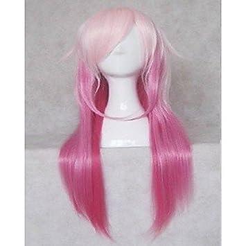 GSP-pelucas populares peluca cosplay pelucas del partido de la mujer de color rosa largas