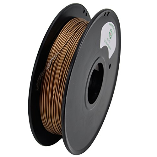 YOYI 3D Metal composite brass 0.5KG 1.75mm 3D Printer Filament, Diameter Tolerance +/- 0.05 mm, 0.5 KG Spool, 1.75 mm, brass