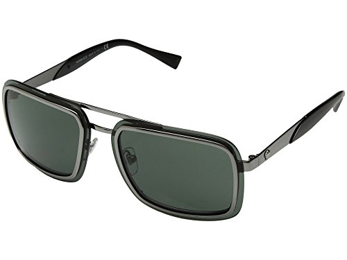 Versace Sunglasses Gunmetal/Green Metal - Non-Polarized - - Shades Versace 2017