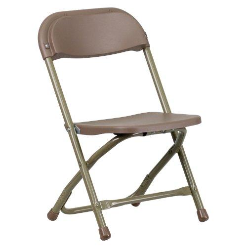 Flash Furniture Kids Brown Plastic Folding (Metal Plastic Chair)