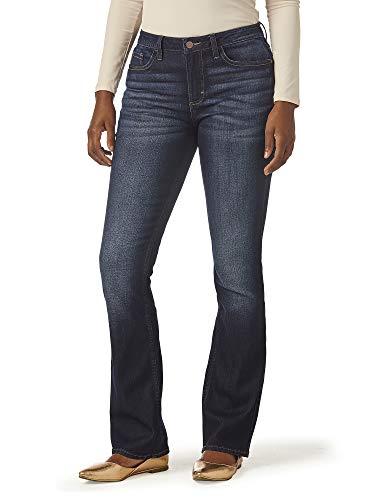 Riders by Lee Indigo Women's Midrise Bootcut Jean, Nightfall, 16 Reg (Dark Denim Mid Rise Boot Cut Jeans)