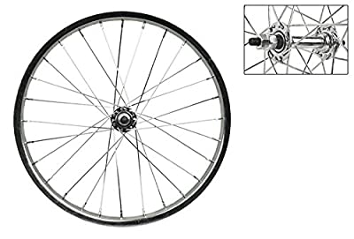 "Wheel Master 18"" x 1.75 Front Bicycle Wheel, 28H, Steel, Bolt On, Silver"