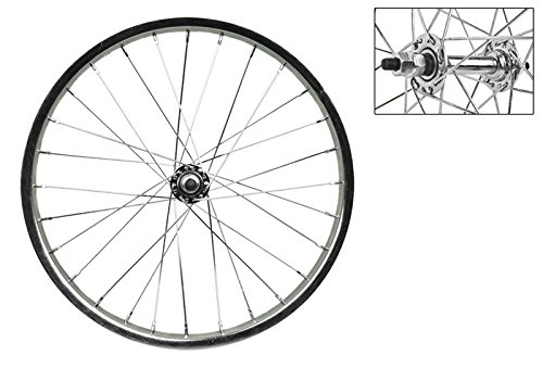 Wheel Master 18'' x 1.75 Front Bicycle Wheel, 28H, Steel, Bolt On, Silver by WheelMaster