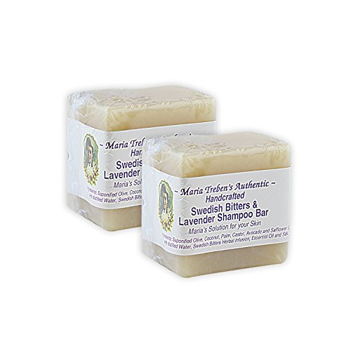 - Maria Treben's Authentic Handcrafted Swedish Bitters & Lavender Shampoo Bar (3oz Bar) x 2