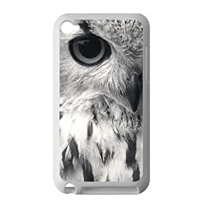 Canting_Good Retro Owl Custom Case Cover Shell for IPod Touch 4 TPU (Laser Technology)