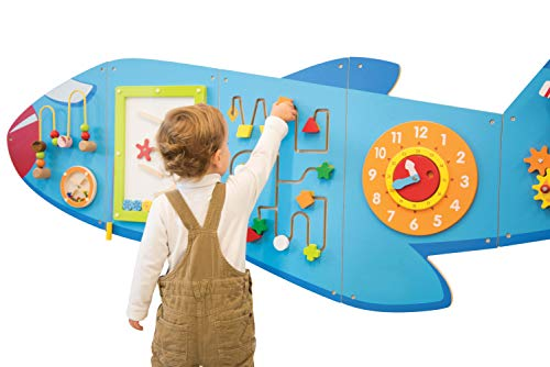 418Y%2Bx3YeDL - Learning Advantage Airplane Activity Wall Panels - Toddler Activity Center - Wall-Mounted Toy for Kids Aged 18M+ - Kids Decor for Play Areas (50673)