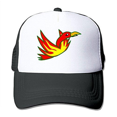 Uzhongquux Cartoon Phoenix Summer Mesh Cap With Adjustable Snapback Strap - In Airport Az Phoenix