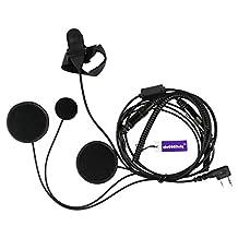 Full Face Moto Motorcycle Bike Helmet Earpiece Headset Mic Microphone For Kenwood Two Way Radio Walkie Talkie TK3173/TK3200/TK3202/TK3207/TK3230 etc 2pin