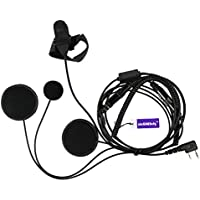 Full Face Moto Motorcycle Bike Helmet Earpiece Headset Mic Microphone For Kenwood Two Way Radio Walkie Talkie TK3173/TK3200/TK3202/TK3207/TK3230 etc 2pin