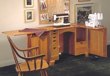 A Woodworking Plan And Instructions To Build A Sewing Center