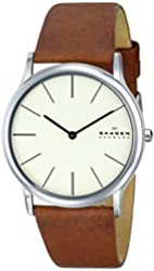 """Skagen Men's SKW6083 """"Theodor"""" Stainless Steel Watch with Brown Leather Band"""